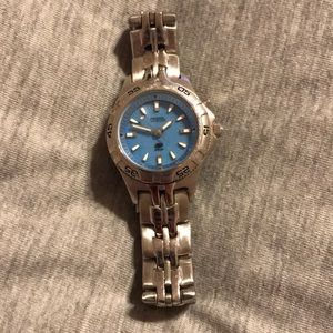 Fossil Blue: Bright Blue and Silver Watch